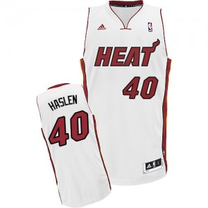 Maillot NBA Swingman Udonis Haslem #40 Miami Heat Home Blanc - Homme