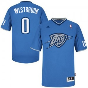 Maillot Swingman Oklahoma City Thunder NBA 2013 Christmas Day Bleu - #0 Russell Westbrook - Homme