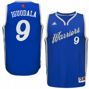 Maillot Authentic Golden State Warriors NBA 2015-16 Christmas Day Bleu royal - #9 Andre Iguodala - Homme
