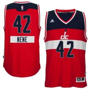 Maillot Adidas Rouge 2014-15 Christmas Day Authentic Washington Wizards - Nene #42 - Homme