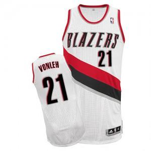 Portland Trail Blazers Noah Vonleh #21 Home Authentic Maillot d'équipe de NBA - Blanc pour Homme