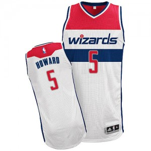Maillot Authentic Washington Wizards NBA Home Blanc - #5 Juwan Howard - Homme