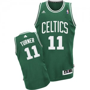 Maillot NBA Swingman Evan Turner #11 Boston Celtics Road Vert (No Blanc) - Homme