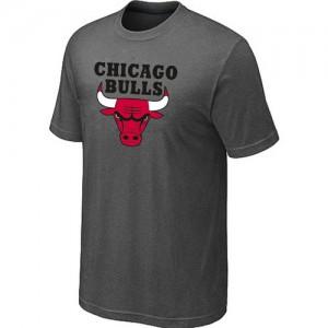 T-shirt à manches courtes Chicago Bulls NBA Big & Tall Gris foncé - Homme