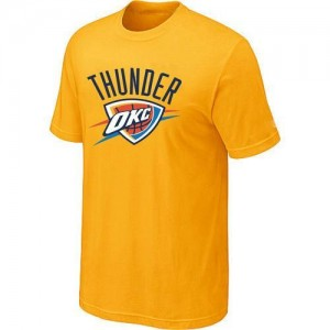 T-Shirts NBA Oklahoma City Thunder Jaune Big & Tall - Homme