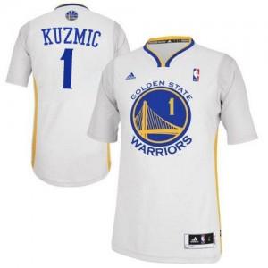 Maillot Adidas Blanc Alternate Authentic Golden State Warriors - Ognjen Kuzmic #1 - Homme