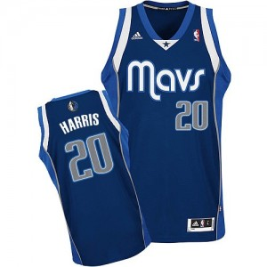 Maillot NBA Dallas Mavericks #20 Devin Harris Bleu marin Adidas Swingman Alternate - Homme