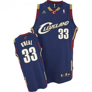 Maillot NBA Cleveland Cavaliers #33 Shaquille O'Neal Bleu marin Adidas Swingman Throwback - Homme