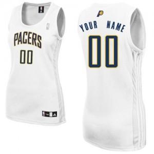 Indiana Pacers Personnalisé Adidas Home Blanc Maillot d'équipe de NBA pas cher - Authentic pour Femme