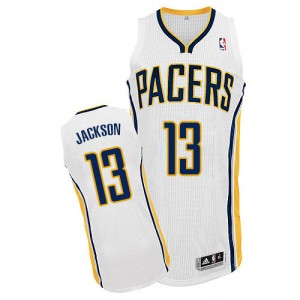 Maillot Adidas Blanc Home Authentic Indiana Pacers - Mark Jackson #13 - Homme