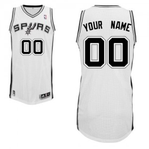 Maillot NBA Blanc Authentic Personnalisé San Antonio Spurs Home Homme Adidas