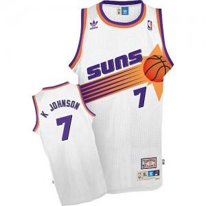 Phoenix Suns #7 Adidas Throwback Blanc Swingman Maillot d'équipe de NBA Soldes discount - Kevin Johnson pour Homme