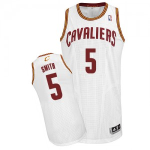 Maillot Authentic Cleveland Cavaliers NBA Home Blanc - #5 J.R. Smith - Homme