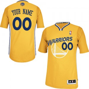 Maillot NBA Or Authentic Personnalisé Golden State Warriors Alternate Homme Adidas