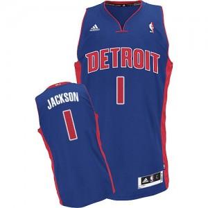 Detroit Pistons #1 Adidas Road Bleu royal Swingman Maillot d'équipe de NBA prix d'usine en ligne - Reggie Jackson pour Homme