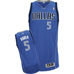 Maillot Adidas Bleu royal Road Authentic Dallas Mavericks - Jose Juan Barea #5 - Homme