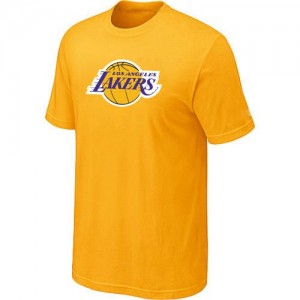 Los Angeles Lakers Big & Tall T-Shirts d'équipe de NBA - Jaune pour Homme