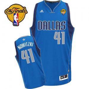 Dallas Mavericks #41 Adidas Road Finals Patch Bleu royal Swingman Maillot d'équipe de NBA achats en ligne - Dirk Nowitzki pour Homme