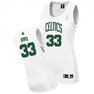 Maillot NBA Blanc Larry Bird #33 Boston Celtics Home Authentic Femme Adidas