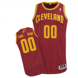 Maillot NBA Cleveland Cavaliers Personnalisé Authentic Vin Rouge Adidas Road - Enfants