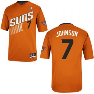 Maillot NBA Orange Kevin Johnson #7 Phoenix Suns Alternate Authentic Homme Adidas