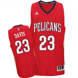 Maillot Adidas Rouge Alternate Authentic New Orleans Pelicans - Anthony Davis #23 - Homme