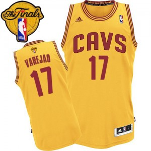 Cleveland Cavaliers #17 Adidas Alternate 2015 The Finals Patch Or Swingman Maillot d'équipe de NBA pas cher - Anderson Varejao pour Homme
