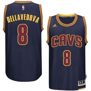 Maillot NBA Authentic Matthew Dellavedova #8 Cleveland Cavaliers Bleu marin - Homme