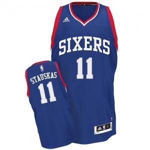 Maillot NBA Swingman Nik Stauskas #11 Philadelphia 76ers Alternate Bleu royal - Homme
