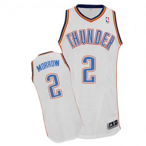 Maillot Adidas Blanc Home Authentic Oklahoma City Thunder - Anthony Morrow #2 - Homme