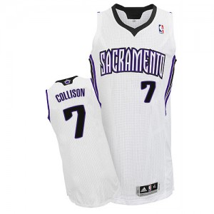 Maillot NBA Authentic Darren Collison #7 Sacramento Kings Home Blanc - Homme