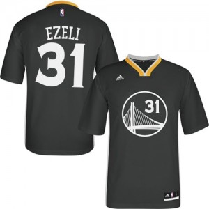 Maillot NBA Authentic Festus Ezeli #31 Golden State Warriors Alternate Noir - Homme