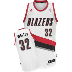 Maillot Swingman Portland Trail Blazers NBA Home Blanc - #32 Bill Walton - Homme