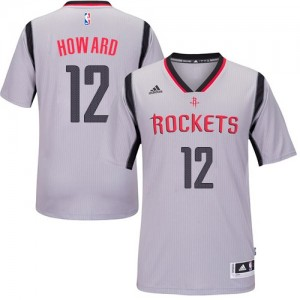 Maillot Adidas Gris Alternate Swingman Houston Rockets - Dwight Howard #12 - Homme