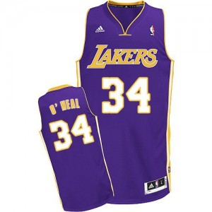 Maillot Swingman Los Angeles Lakers NBA Road Violet - #34 Shaquille O'Neal - Homme