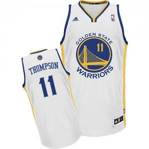 Maillot Adidas Blanc Home Swingman Golden State Warriors - Klay Thompson #11 - Homme