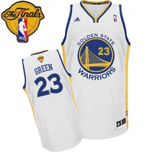 Maillot NBA Swingman Draymond Green #23 Golden State Warriors Home 2015 The Finals Patch Blanc - Homme