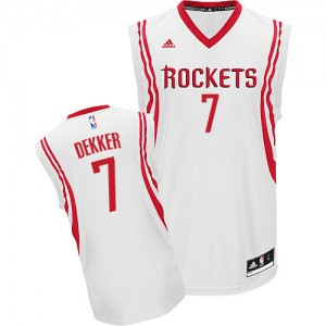 Maillot NBA Houston Rockets #7 Sam Dekker Blanc Adidas Swingman Home - Homme