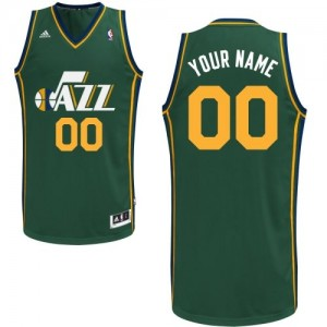 Maillot NBA Utah Jazz Personnalisé Authentic Vert Adidas Alternate - Femme