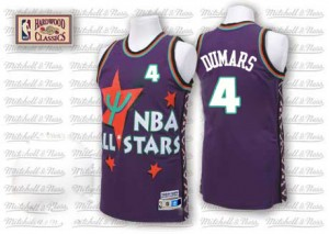 Maillot NBA Detroit Pistons #4 Joe Dumars Violet Adidas Authentic Throwback 1995 All Star - Homme