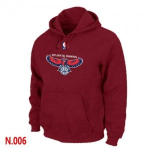 Sweat à capuche NBA Rouge Atlanta Hawks Homme
