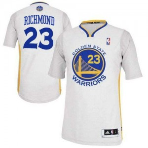 Maillot Adidas Blanc Alternate Authentic Golden State Warriors - Mitch Richmond #23 - Homme