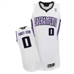 Sacramento Kings #0 Adidas Home Blanc Authentic Maillot d'équipe de NBA Expédition rapide - Willie Cauley-Stein pour Homme