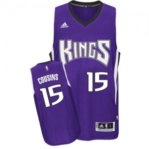 Maillot NBA Swingman DeMarcus Cousins #15 Sacramento Kings Road Violet - Homme