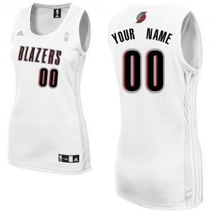 Maillot NBA Blanc Swingman Personnalisé Portland Trail Blazers Home Femme Adidas