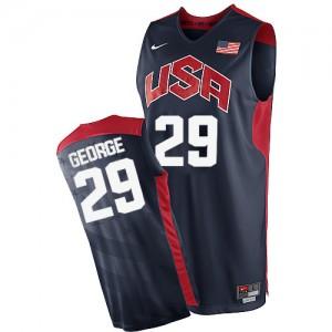 Team USA #29 Nike 2012 Olympics Bleu marin Authentic Maillot d'équipe de NBA en ligne pas chers - Paul George pour Homme