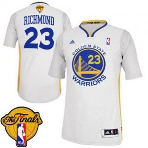 Maillot Adidas Blanc Alternate 2015 The Finals Patch Swingman Golden State Warriors - Mitch Richmond #23 - Homme