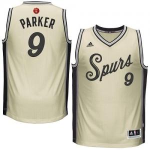 San Antonio Spurs Tony Parker #9 2015-16 Christmas Day Authentic Maillot d'équipe de NBA - Crème pour Homme