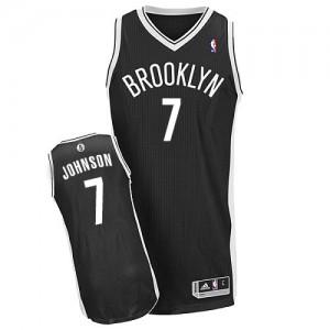 Maillot Authentic Brooklyn Nets NBA Road Noir - #7 Joe Johnson - Homme