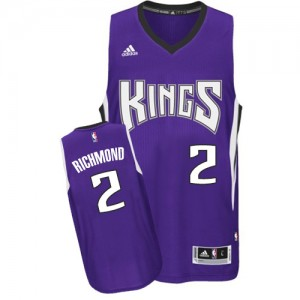 Maillot NBA Sacramento Kings #2 Mitch Richmond Violet Adidas Swingman Road - Homme